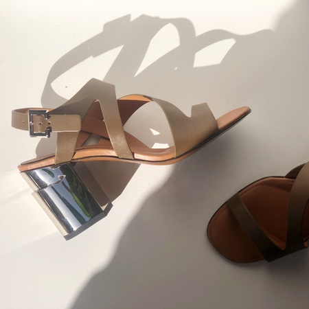 Robert Clergerie ABOVE MIRROR SANDALS - Birch