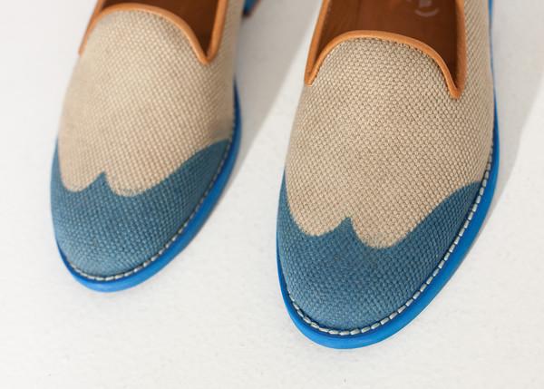 Verba Wingtip Loafer in Blue