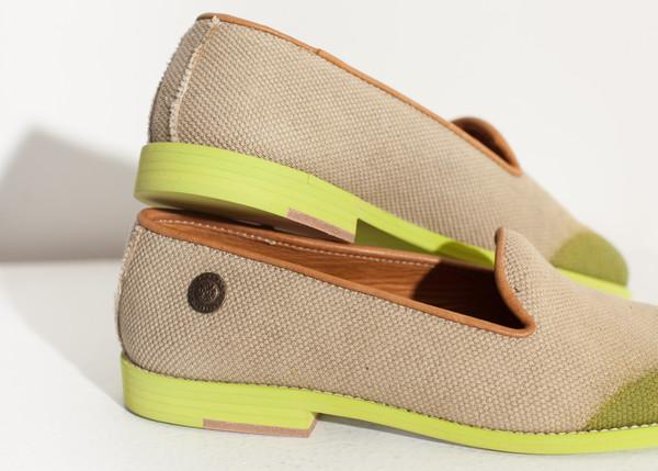 Verba Wingtip Loafer in Lime