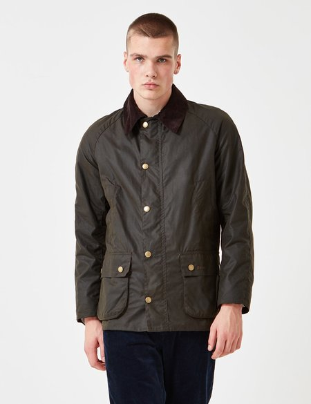 Barbour Ashby Wax Jacket - Olive Green