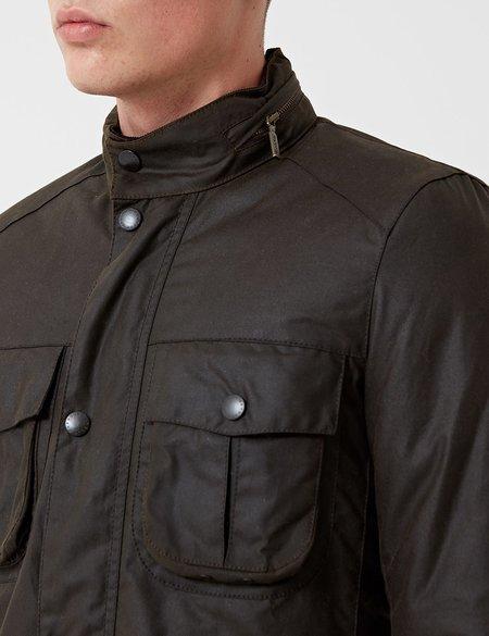 Barbour Corbridge Wax Jacket - Olive Green