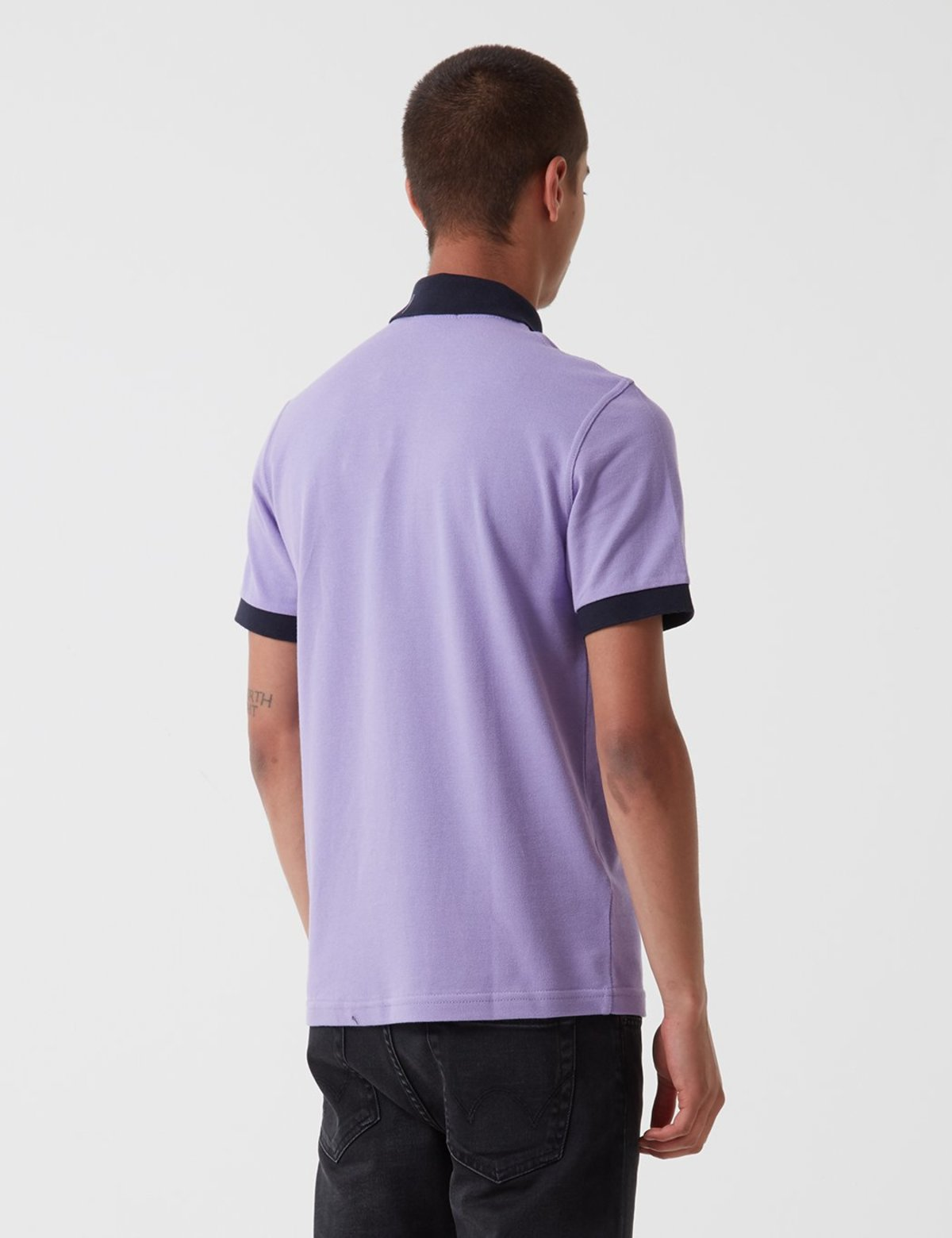 65b32ad14 Fred Perry Contrast Rib Pique Shirt - Soft Lilac