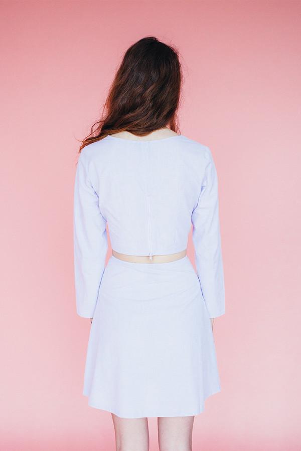 Pearl blouse - lavendar