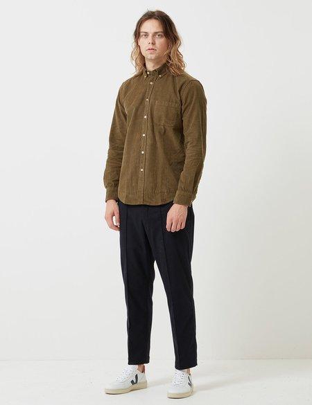Portuguese Flannel Lobo Shirt in Cord - Olive Green