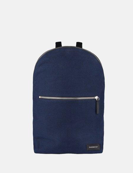 Sandqvist Alfons Canvas Backpack - Blue