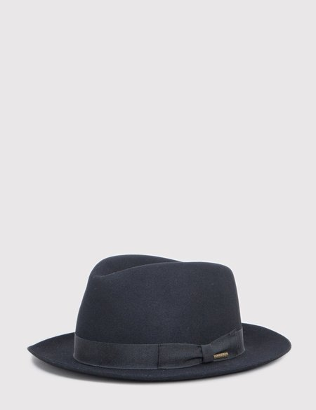 STETSON Penn Fur Felt Fedora Hat - Black