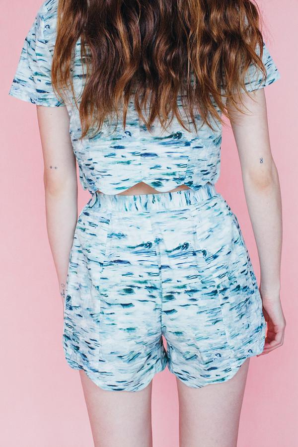Wave blouse - Sea print