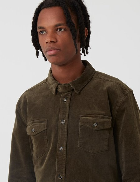 SUIT DK Suit Jason Corduroy Shirt - Dark Green