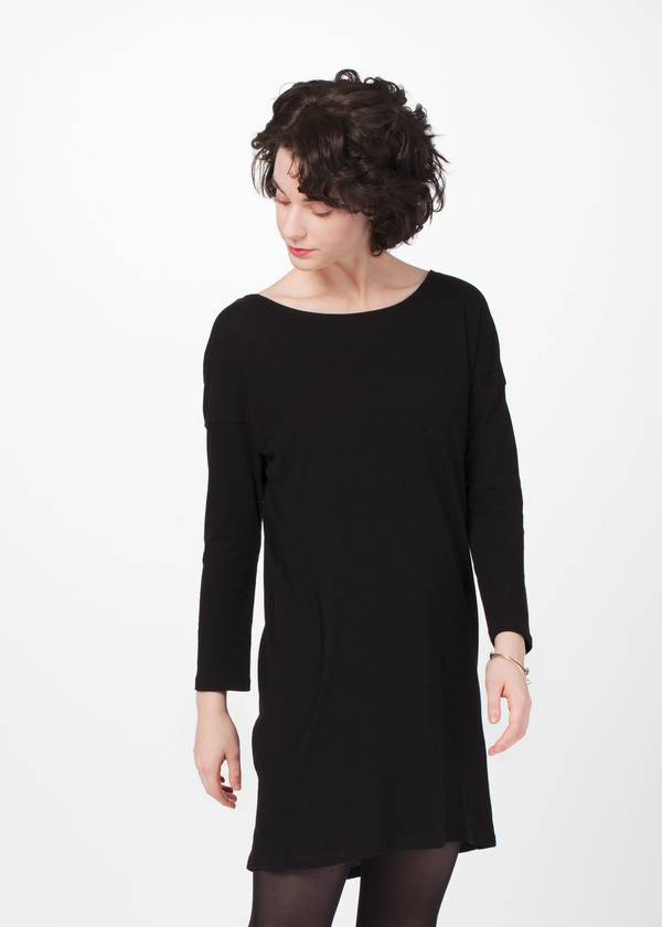 Organic by John Patrick Open Neck Shift Dress