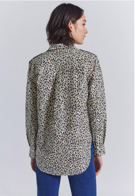 Current/Elliott The Sal Shirt - Jagged Leopard
