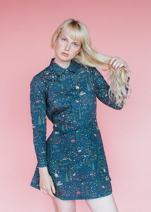 Samantha Pleet Alice Dress - Wonderland Print