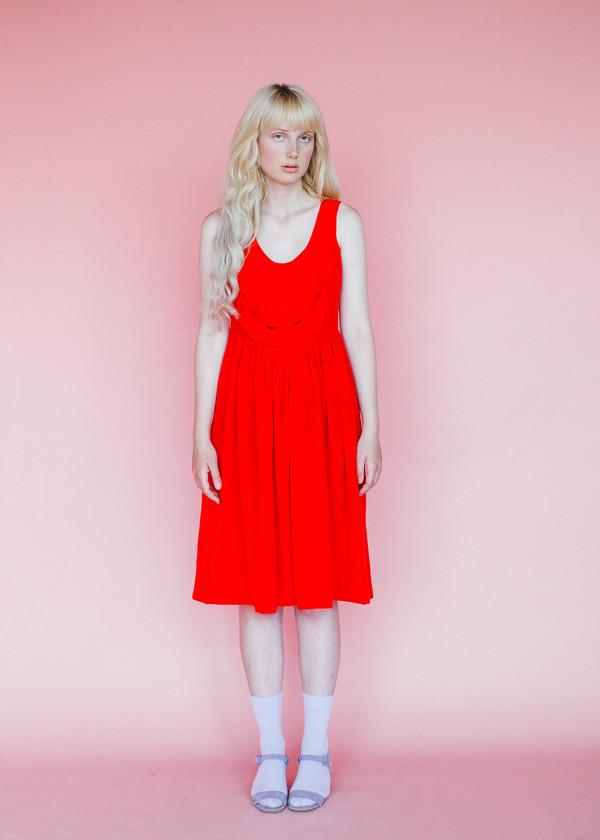 Samantha Pleet Degas Dress - Scarlet