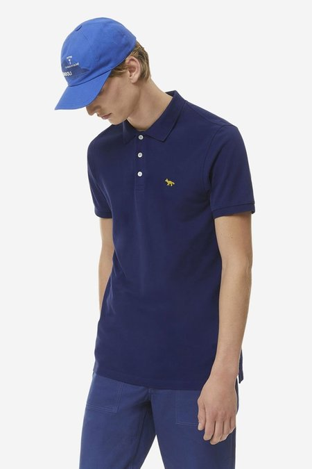Kitsune Light Pique Polo - Navy