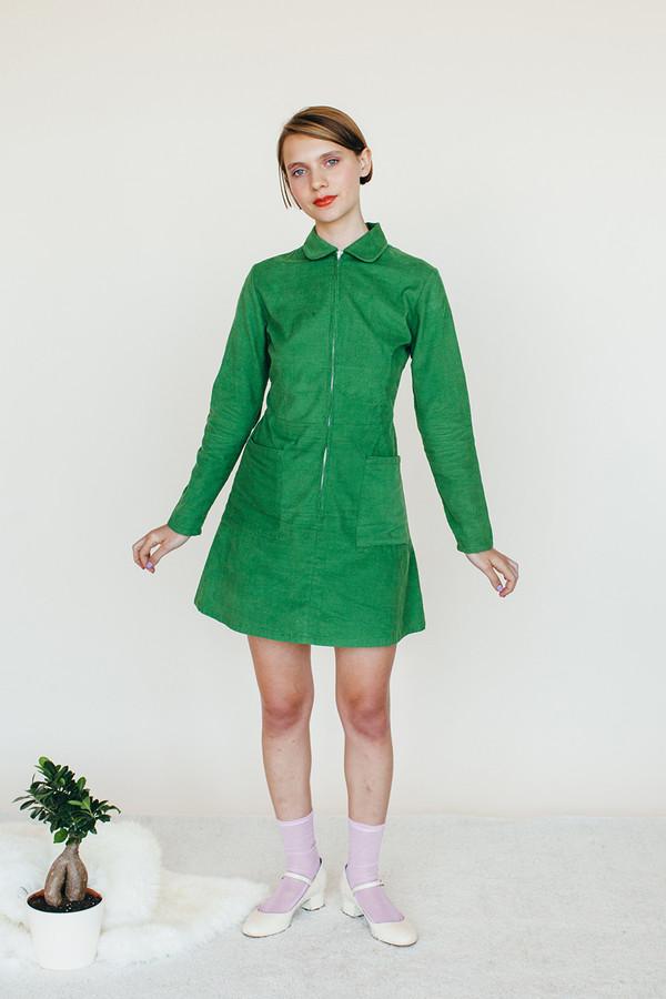 Samantha Pleet Leap Dress - Green
