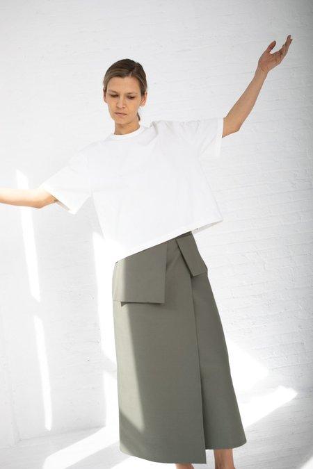 Studio Nicholson Rudd Utility Wrap Skirt - Olive