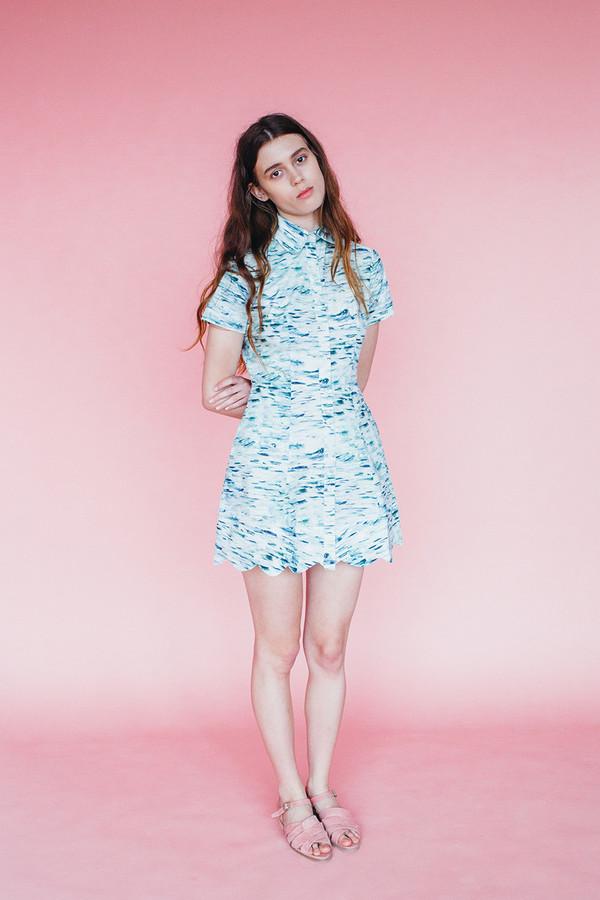 Samantha Pleet Wave dress - Sea print
