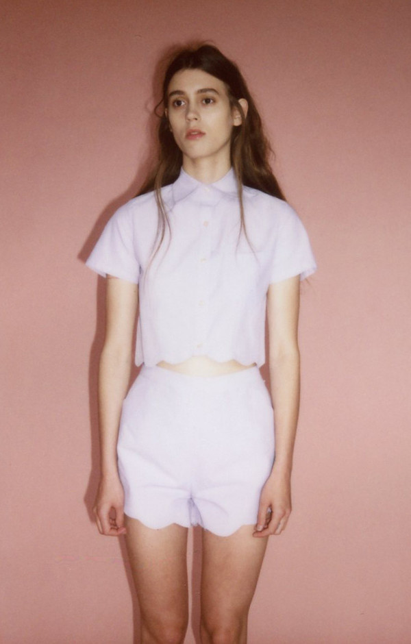 Samantha Pleet Wave shorts - lavendar