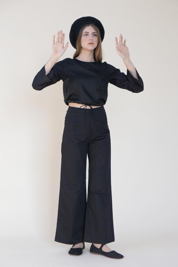 Samantha Pleet Wonderland Print Basket Blouse - Black