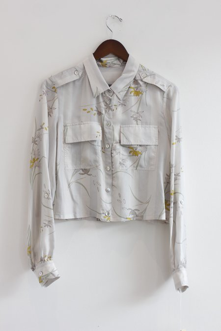 ca34fd1807cc7 RAQUEL ALLEGRA Cargo Button-Up Blouse