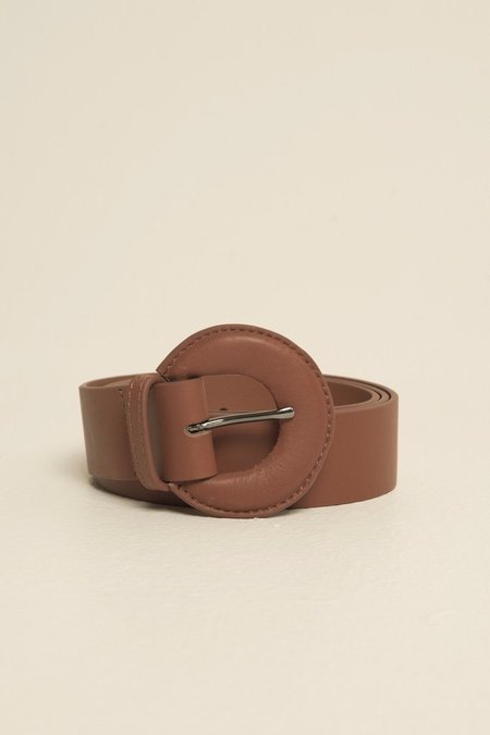 Jaggar Leather Buckle Belt - Rust