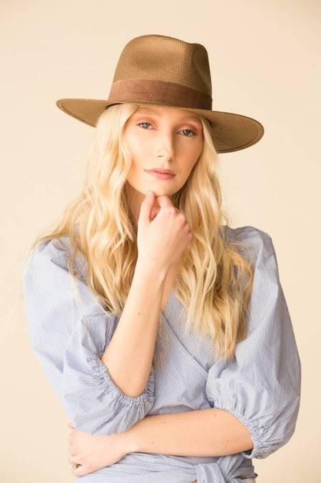 ... Janessa Leone Luna Fedora Hat - Brown ff93a55311d2