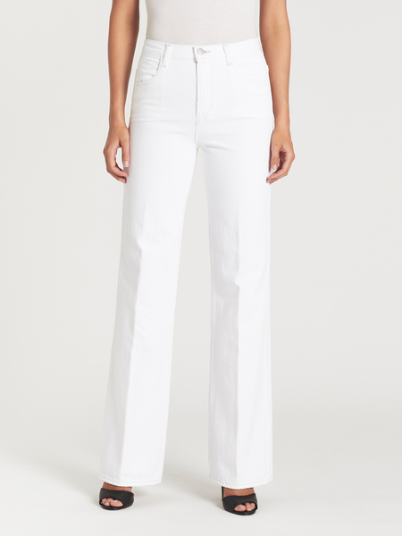 J Brand Joan High Rise Wide Leg Pant - Bright White