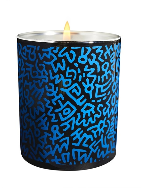 Keith Haring Candles Bougie Chromee Menthe