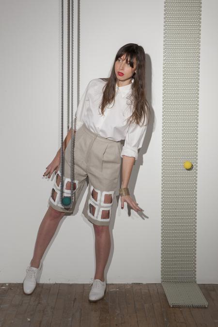 Nancy Stella Soto Cutout Hemp Shorts