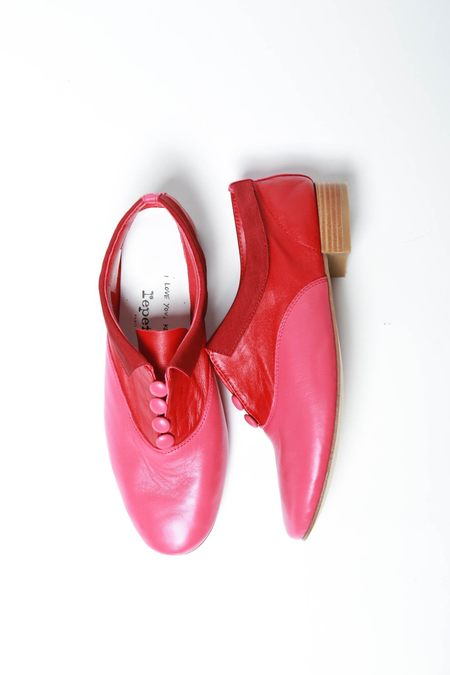 Repetto Zizi Rich x Sia Slip-On Loafer - Red/Fuchsia