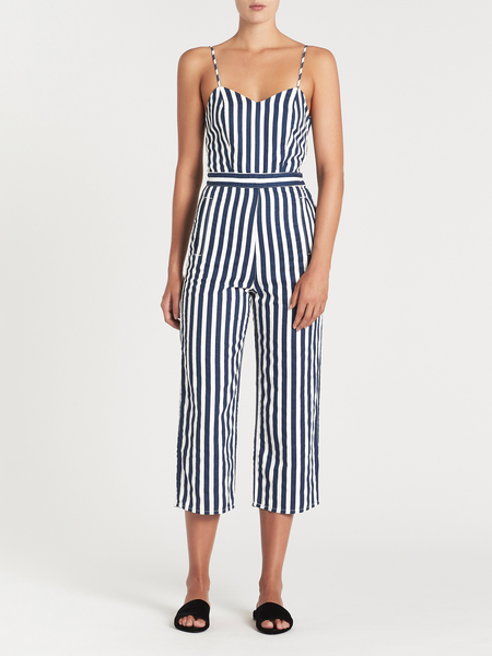 Mother Denim The Cut It Out Jumpsuit - Sea Daze
