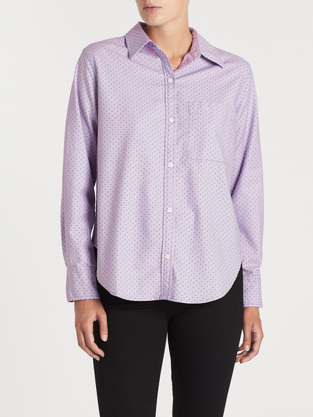 Current Elliott The Neal Shirt - Orchid Polka Dot