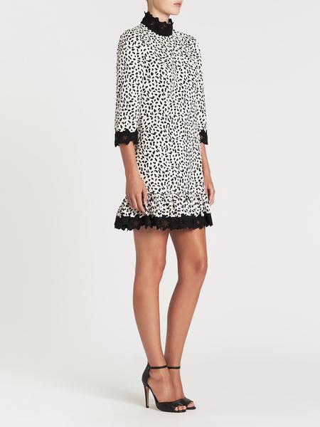 Rebecca Taylor La Vie Jaguar Print Dress - Sand