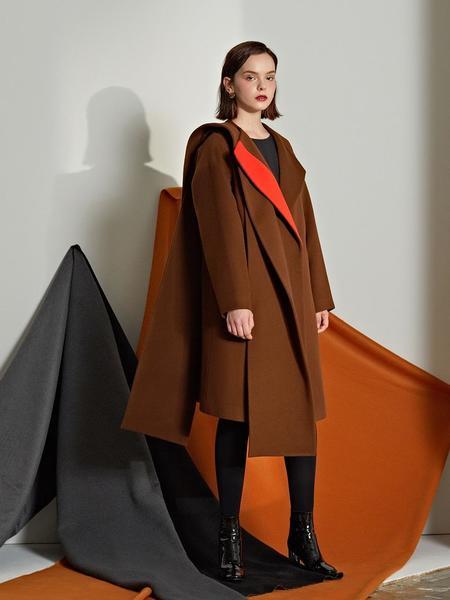 Le Yiel Color Combination Wool Coat