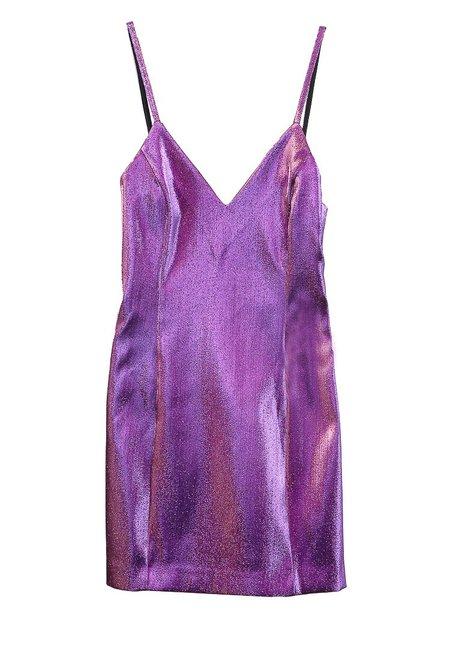 Area Lame Slip Dress - Lilac