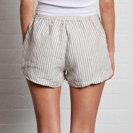 In Bed Linen Shorts - Stripe