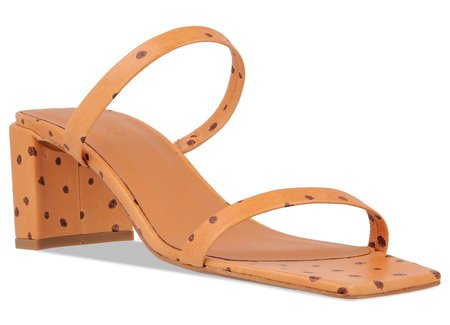 BY FAR Tanya Ostrich Embossed Leather sandal - Nude