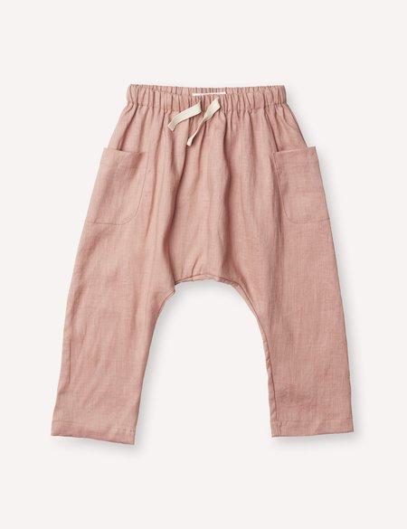 kids Petits Vilains Blaise Harem Trousers - Tea Rose