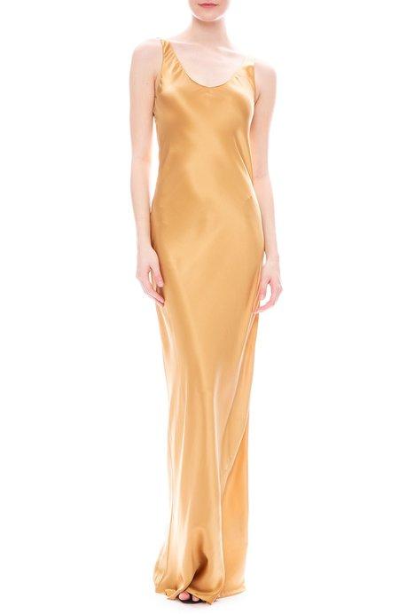 Nili Lotan Bazile Silk Charmeuse Gown - Golden