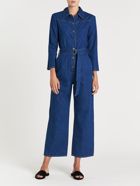 MiH Jeans Harper All In One Jumpsuit - Dazzling Blue