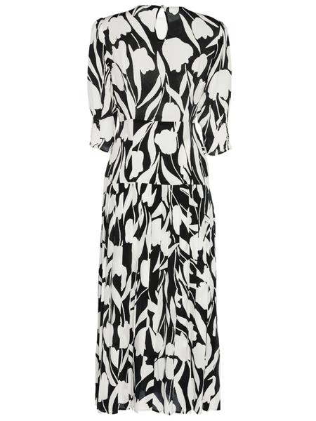 RIXO LONDON Sheree Abstract Tulip Elbow Sleeve Dress - Floral