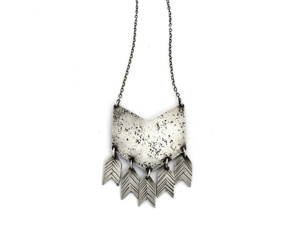 Laurel Hill Chevron Necklace