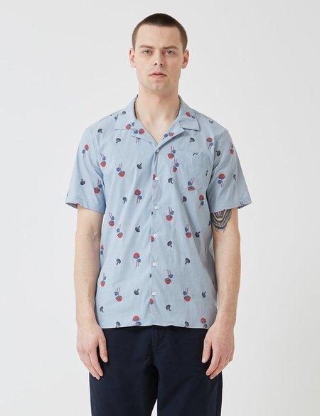 Libertine Libertine Cave Shirt - Blue Pin Mushroom