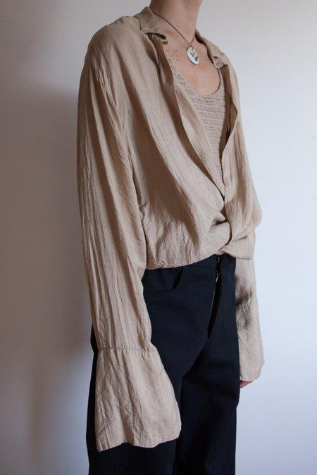 LUDOVIC DE SAINT SERNIN Hand Woven Silk Cuff Shirt
