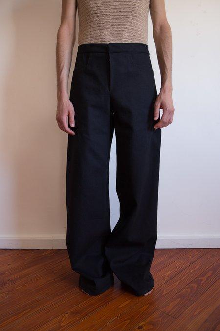 LUDOVIC DE SAINT SERNIN Wide Leg Cotton Trouser