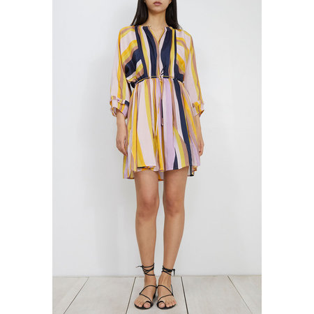 Apiece Apart La Flutte Mini Dress - Olivio Stripe