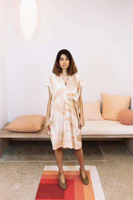 Miranda Bennett Sunrise Collection x Naomi Clark: Silk Noil Everyday Dress - Acacia, IV