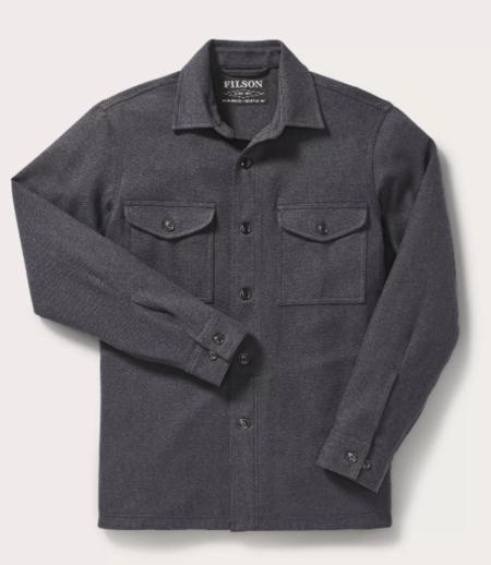 ea4b333236c ... Filson Deer Island Jac Shirt - Navy heather