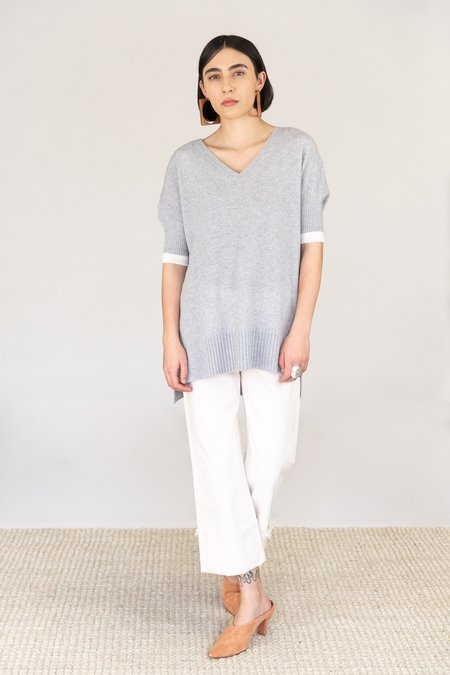 Duffy Cashmere Short Sleeve Sweater - Coyote Grey