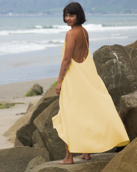 Petit Mioche Voile Dress - Yellow
