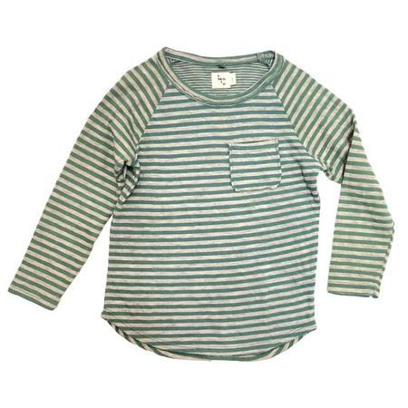 KIDS Nico Nico Perry Long Sleeved T-shirt - Moss Green Stripes